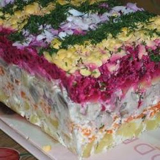 Russian Beet Salad with Herring