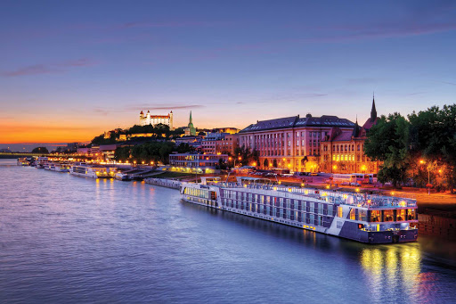 Experience an evening in the charming old town of Bratislava while on a European river cruise aboard AmaLyra.