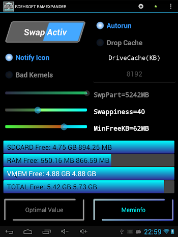 ROEHSOFT RAM Expander (SWAP)- screenshot