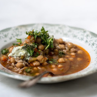 Spicy Chickpea and Bulgur Soup