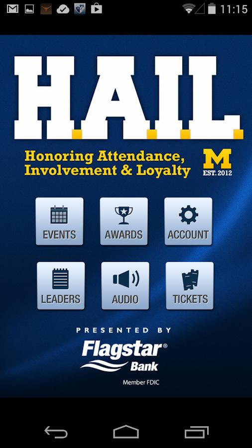 HAIL Michigan Athletics - screenshot