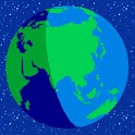 Lighted up Earth logo