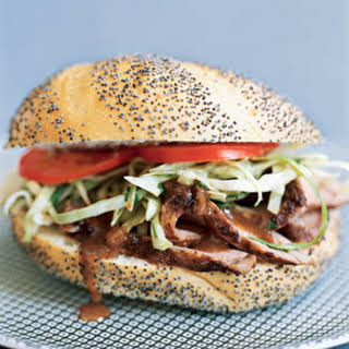 Pork Tenderloin Sandwiches with Cilantro Slaw.