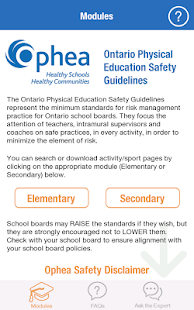 Ophea Safety Guidelines- screenshot thumbnail