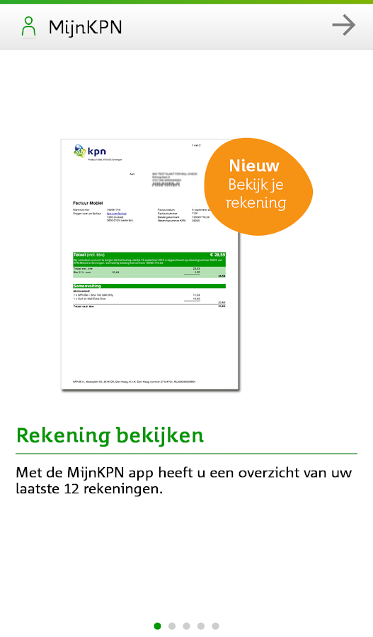 MijnKPN - screenshot