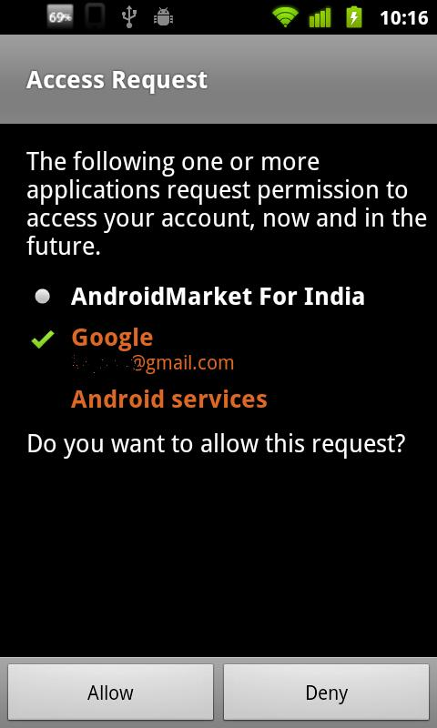 India Android Market - screenshot