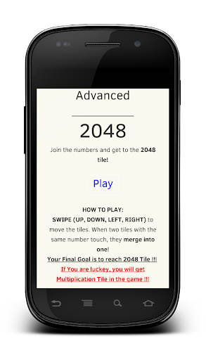 Advanced 2048 Number Game