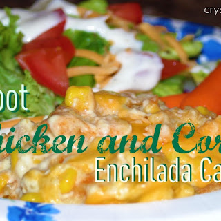 Crockpot Chicken and Corn Enchilada Casserole