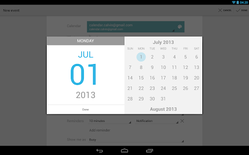 Google Calendar - screenshot thumbnail