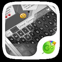 Grey GO Keyboard Theme 1.85.5.82