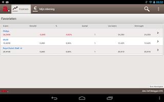 Screenshot of Alex beleggingsapplicatie