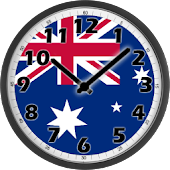 Australia Flag Analog Clock