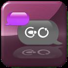 Metallic Purple for GO SMS icon