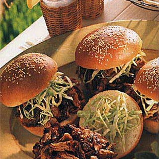 Carolina Pulled-Pork Sandwiches.