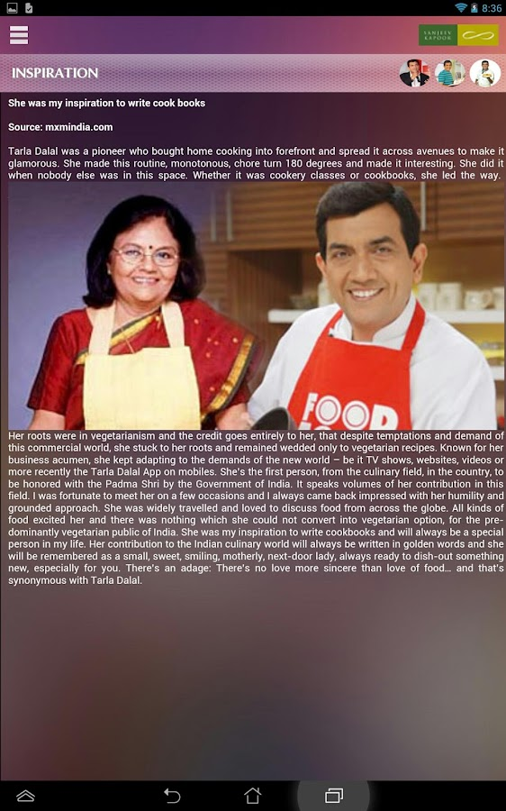 Sanjeev kapoor official app android apps on google play sanjeev kapoor official app screenshot forumfinder Images