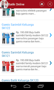 Baju Batik Online screenshot 2