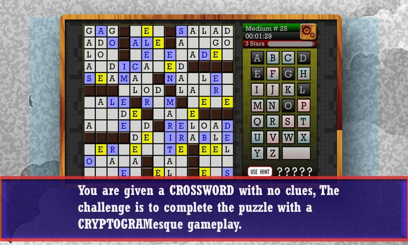 CROSSWORD CRYPTOGRAM - Puzzle- screenshot