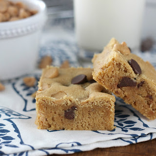 Peanut Butter Chocolate Malted Cookie Bars