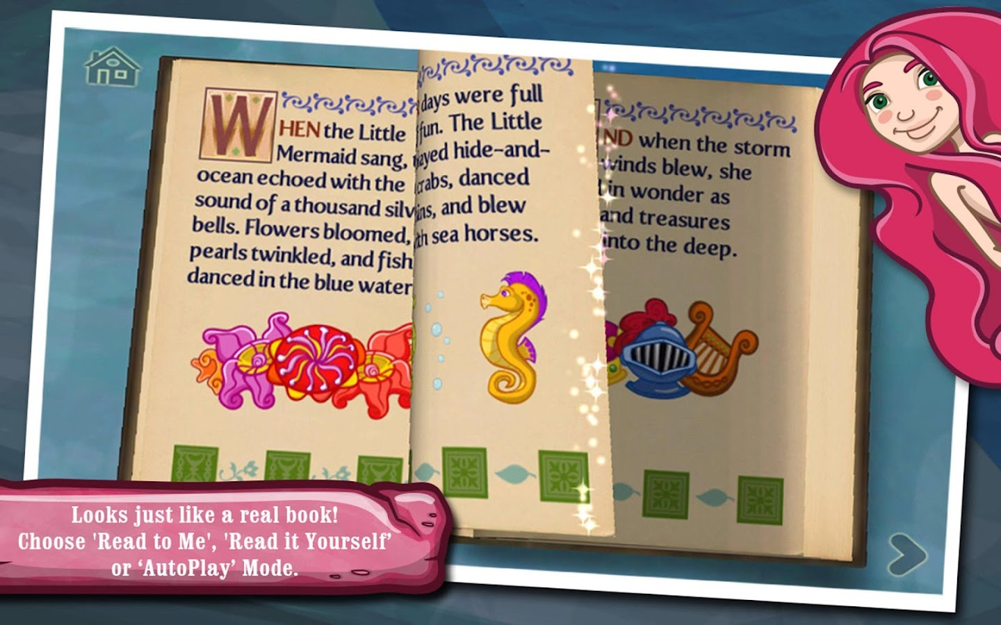 The Little Mermaid ~ 3D Interactive Pop-up Book- screenshot