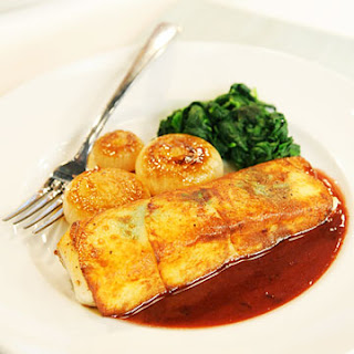 Potato-Wrapped Halibut
