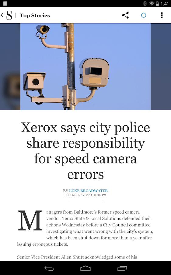 Baltimore Sun- screenshot
