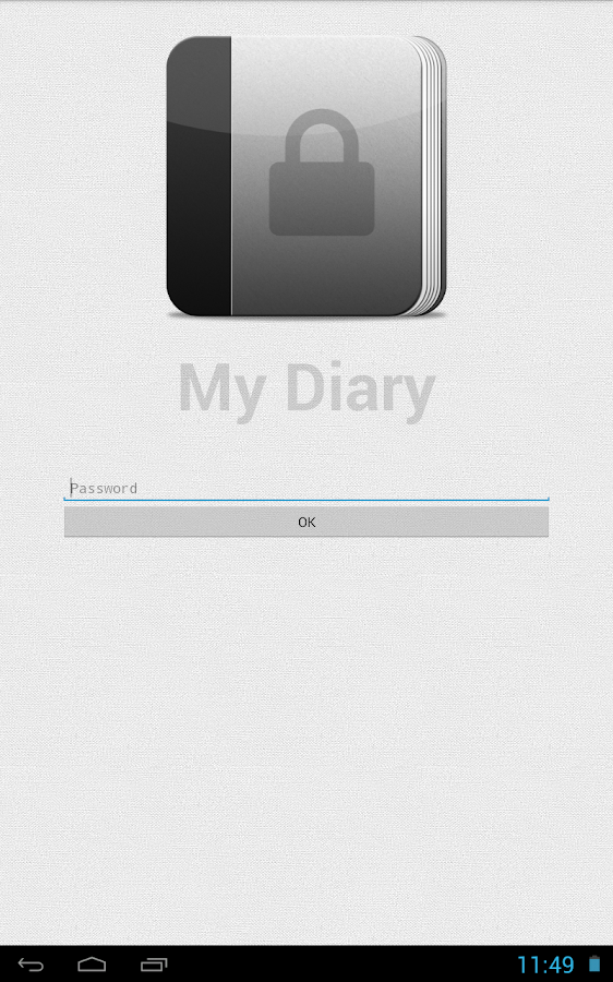 My Diary- screenshot