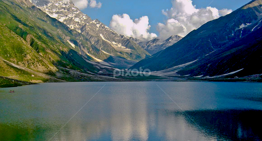 Lake Saiful Muluk  by Samer Shaur - Landscapes Mountains & Hills ( pwcwinter, reflection, mountain, saiful muluk, lake )
