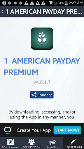 1 AMERICAN PAYDAY PREMIUM