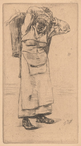 Woman Carrying a Basket of Fish