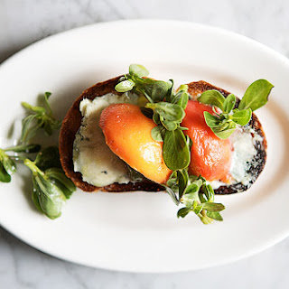Peach and Blue Cheese Toasts
