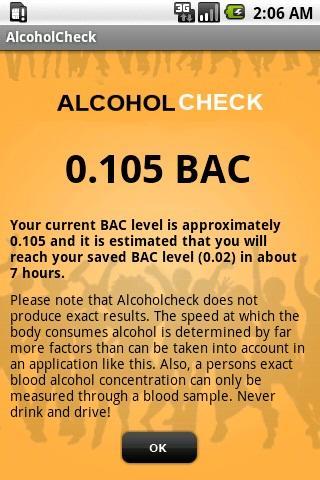 Alcoholcheck - screenshot