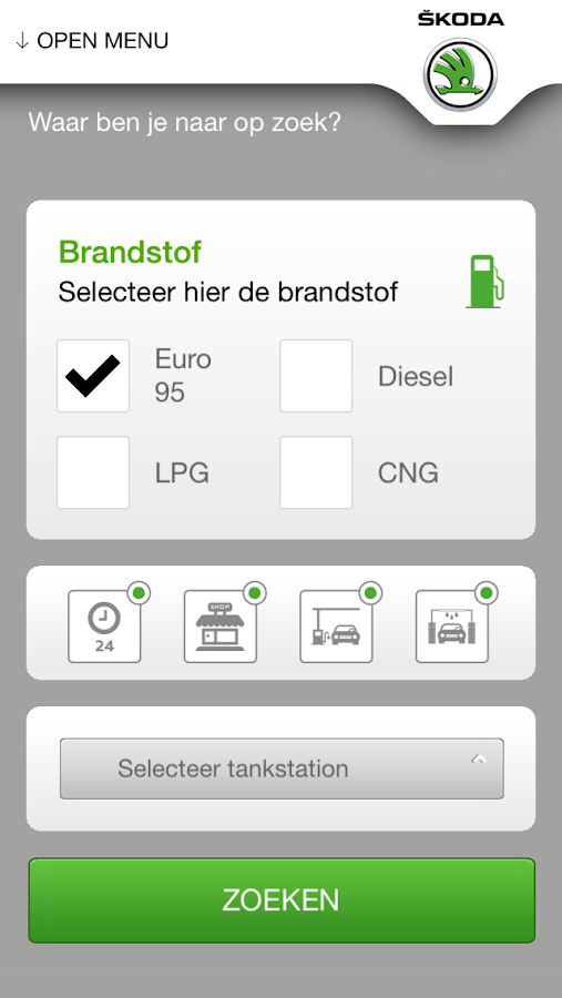 ŠKODA Service app- screenshot
