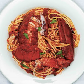 Spaghetti With Lobster, Chiles And Mint