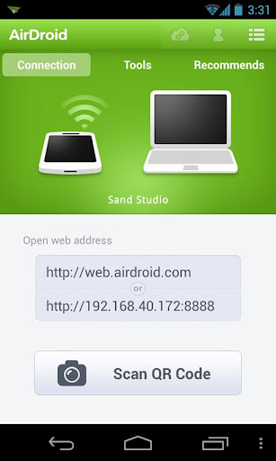AirDroid 2 startup