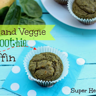 Fruit and Veggie Smoothie Muffins.