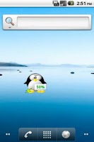 Screenshot of Mini Tux Battery Widget Plus