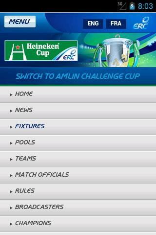 The Heineken Cup - screenshot