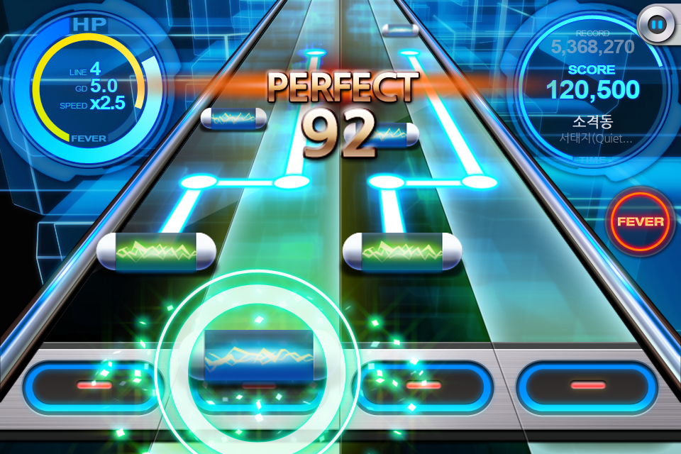 Screenshots of BEAT MP3 2.0 - Rhythm Game for iPhone
