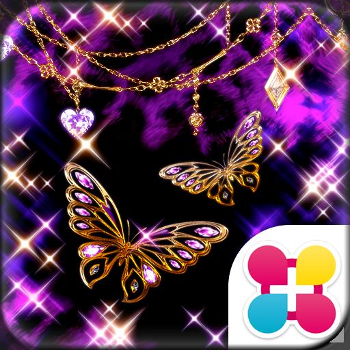Glitter Butterfly 蝶とレオパードの壁紙 Icon