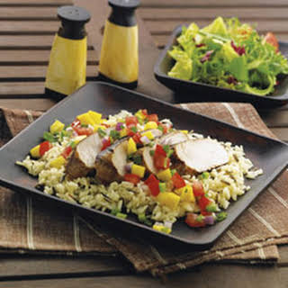 Grilled Turkey Tenderloins with Mango Salsa.