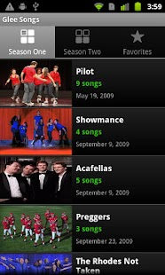 Glee Songs - screenshot thumbnail