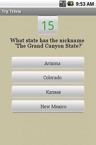 Whizbang United States Quiz - screenshot