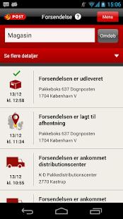 Post Danmark - screenshot thumbnail