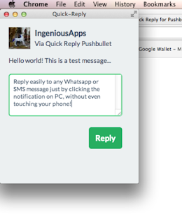 Quick Reply for Pushbullet- screenshot thumbnail