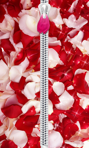 Rose Petals Zip Lock Screen