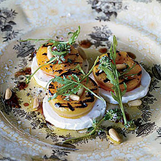 Grilled Apricot, Arugula and Goat Cheese Salad.