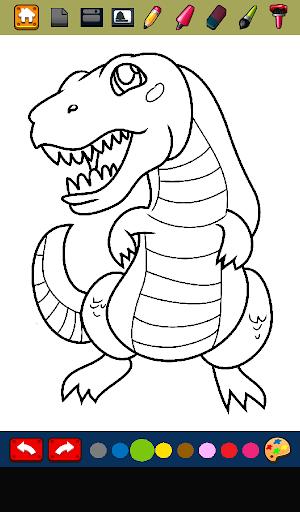 Juego de Colorear Dinosaurios