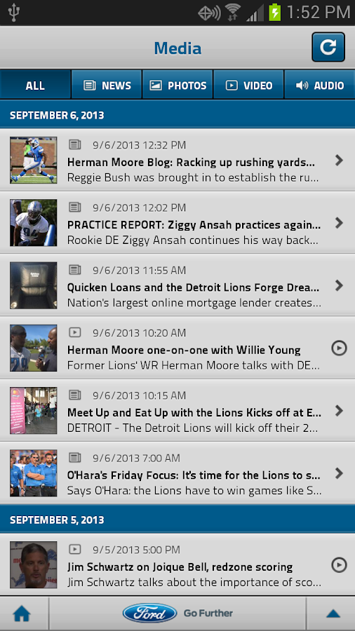 Detroit Lions Mobile- screenshot