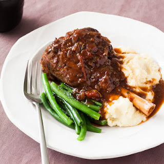 Slow Cooked Lamb Shank.