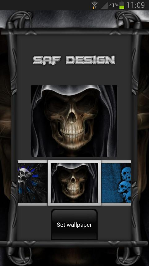 Next Launcher Skull Theme - screenshot